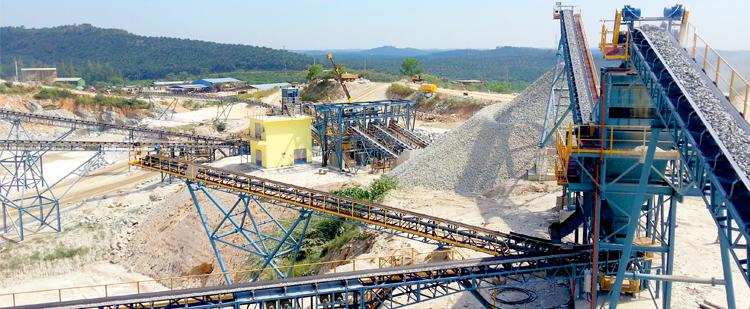 时产600吨花岗岩/玄武岩砂石骨料生产线