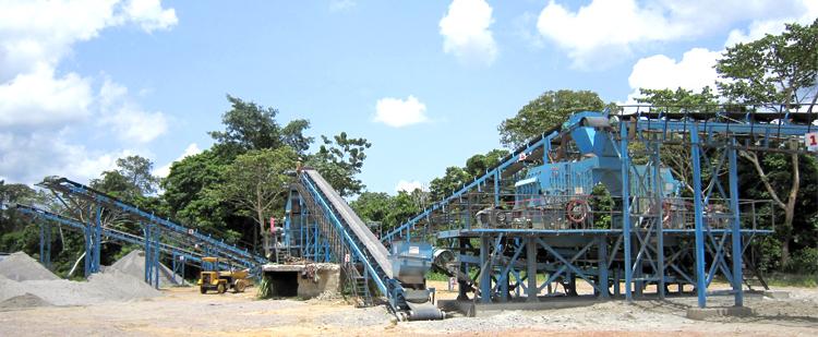 时产800吨花岗岩/玄武岩砂石骨料生产线