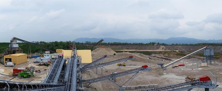 时产1000吨花岗岩/玄武岩砂石骨料生产线