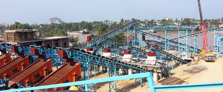 时产200吨花岗岩/玄武岩砂石骨料生产线