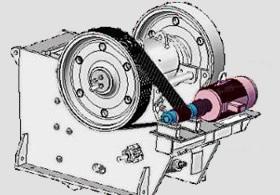 颚式石头破碎机 - 鄂破电机