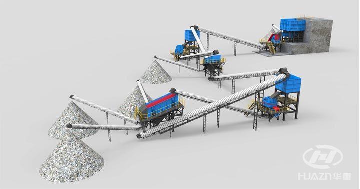 鹅卵石制砂机生产线